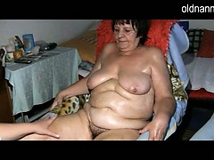 granny-with-hairy-pussy-bathing-herself-to-prepare