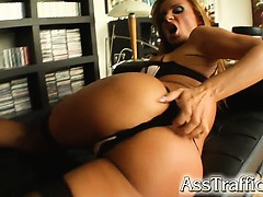 Easily this is the craziest Asstraffic movie ever filmed! Bonnie does it all. She squirts  gets ass fisted and lets 5 guys ass fuck her. DP  Double Anal  A2M and more! A Must see!