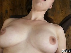 Czech slut Helen flashes then public sex