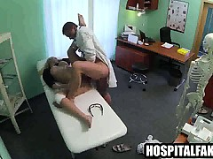 Tasty amateur blonde babe gets fucked by her doctor