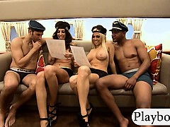 big-boobs-blonde-and-brunette-babes-foursome-in-reality-show