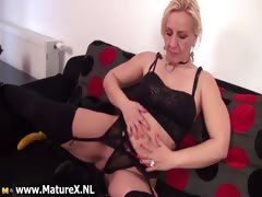Hot Blond Mature Woman Stripping Part5