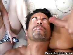 Amazing exciting bi fucks and sucks part5