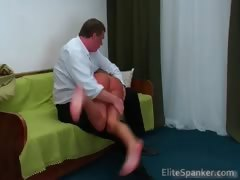 Young Slender Girl Hanna Gets Bent Over Part3