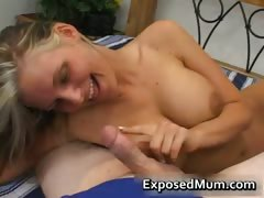 Hot mum with huge juggs sucks stiff rod part4