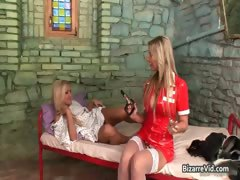 Nasty Blond Bitch Gets Cunt Inspected Part6