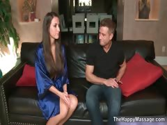 Horny masseuse seduces her male client part4