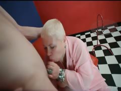 Slutty blonde MILF Doctor Lucia blows part4